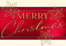 Red Banner Greeting Christmas Cards